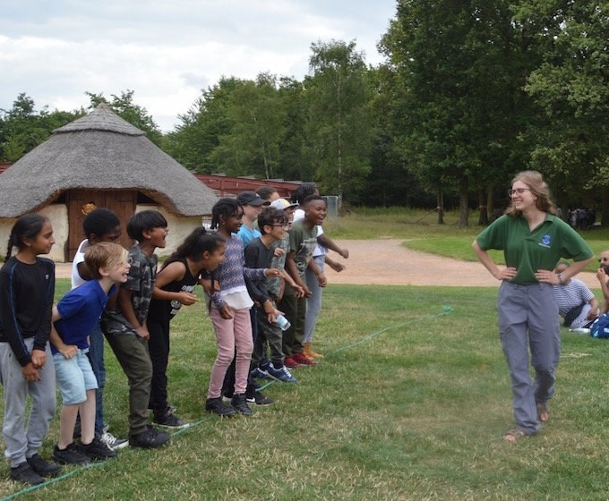 field games on a prehistory residential trip at celtic harmony